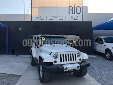 foto Jeep Wrangler Sahara 4x4 3.6L Aut usado (2015) color Blanco precio $447,000