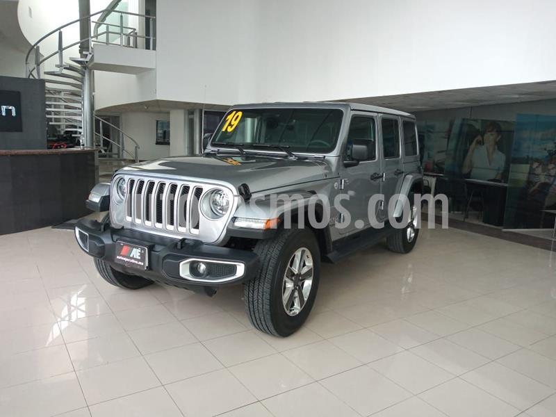 Jeep Wrangler Unlimited Sahara 4x4 3.6L Aut usado (2019) color Plata Dorado precio $799,000