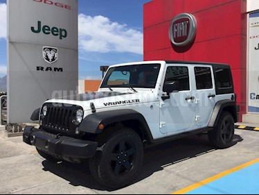 Jeep Wrangler Unlimited Black Bear 4x4 3.6L Aut usado (2016) color Blanco precio $440,000