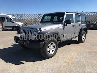 Jeep Wrangler 5p Unlimited Sport V6/3.6 Aut usado (2018) color Plata precio $459,900