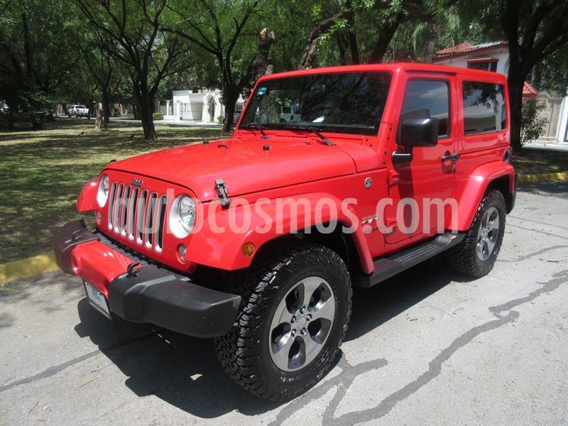 Jeep Wrangler Sahara 4x4 3.6L Aut usado (2016) color Rojo precio $489,000