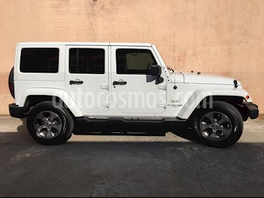 Jeep Wrangler Unlimited JK Sahara 4x4 3.6L Aut usado (2018) color Blanco precio $645,000