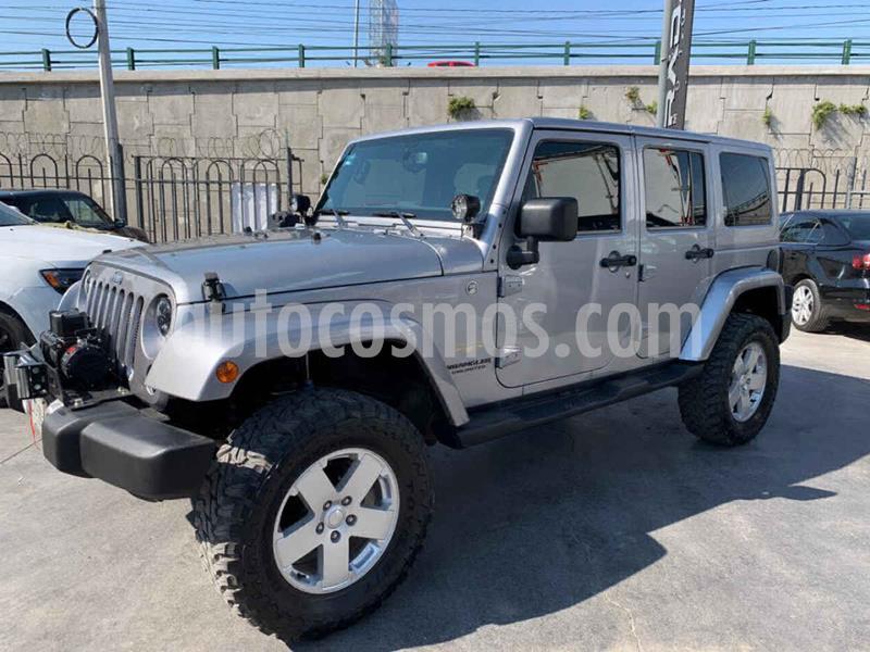 Jeep Wrangler Unlimited Sahara 4x4 3.6L Aut usado (2014) color Plata precio $579,800