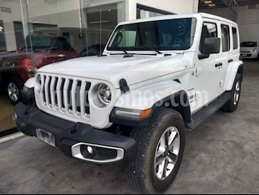 Jeep Wrangler Unlimited Sahara 4x4 3.6L Aut usado (2019) color Blanco precio $769,800