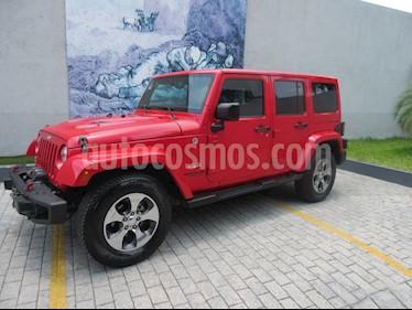 Jeep Wrangler Unlimited Sahara 4x4 3.6L Aut usado (2015) color Rojo precio $540,000