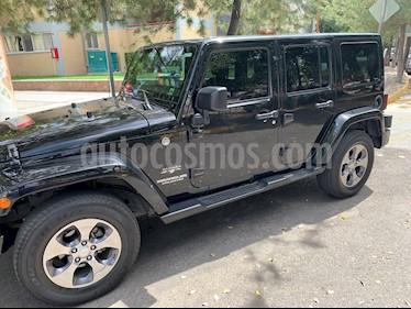 Jeep Wrangler JK Sahara 4x4 3.6L Aut usado (2016) color Negro precio $478,000