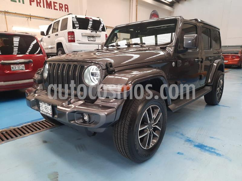Jeep Wrangler Unlimited Sahara 4x4 3.6L Aut usado (2019) color Granito precio $850,000