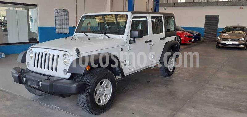 Jeep Wrangler Unlimited Sport 4x4 3.6L Aut usado (2018) color Blanco precio $419,900