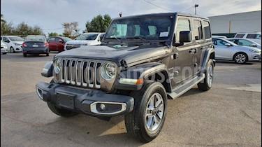 Jeep Wrangler Unlimited Sahara 4x4 3.6L Aut usado (2019) color Gris precio $749,800