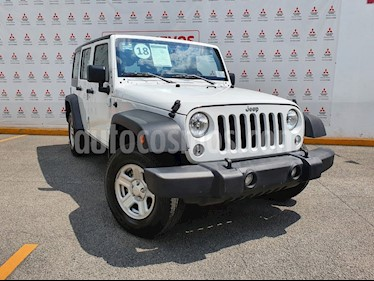 Jeep Wrangler Unlimited Sport 4x4 3.6L Aut usado (2018) color Blanco precio $510,000