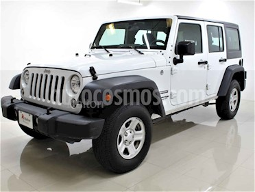 Jeep Wrangler Unlimited Sport 4x4 3.6L Aut usado (2018) color Blanco precio $495,000