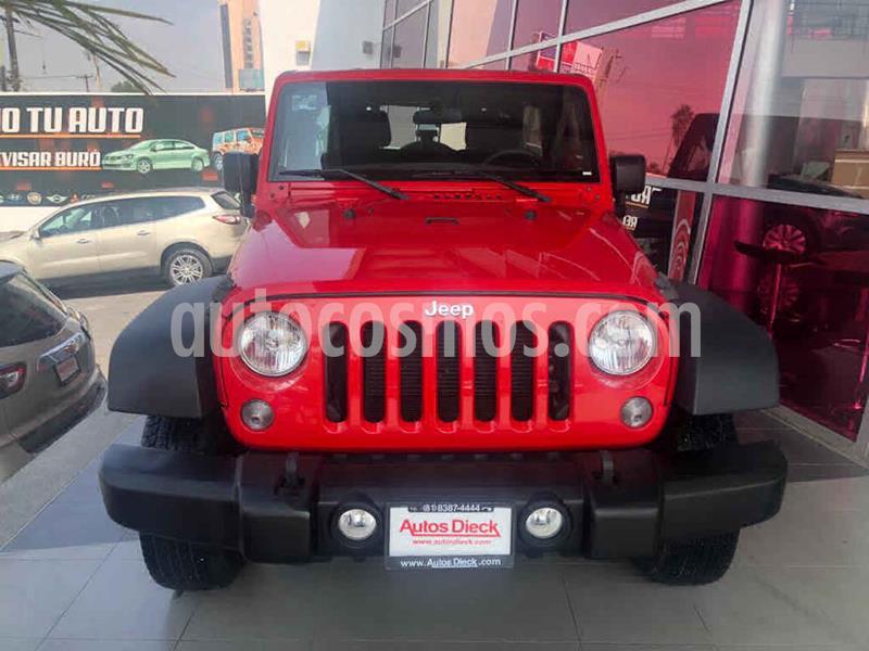Jeep Wrangler Unlimited Sport 4x4 3.6L Aut usado (2018) color Rojo precio $549,000