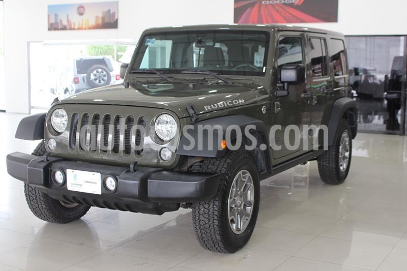 Jeep Wrangler Unlimited Rubicon 4x4 3.6L Aut usado (2016) color Verde Oscuro precio $550,000