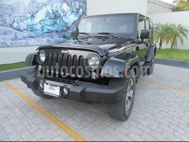 Jeep Wrangler Unlimited Sahara 4x4 3.6L Aut usado (2017) color Negro precio $538,000