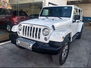 Jeep Wrangler Unlimited Sahara 4x4 3.6L Aut usado (2018) color Blanco precio $549,800