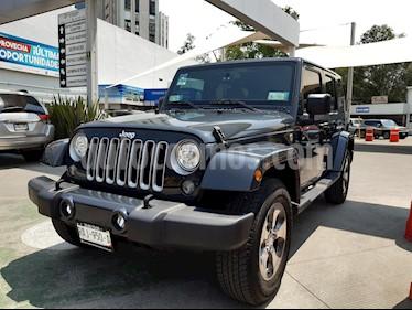Jeep Wrangler Unlimited JK Sahara 4x4 3.6L Aut usado (2018) color Azul precio $645,000