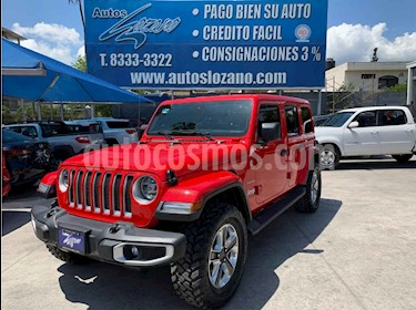 Jeep Wrangler Unlimited Sahara Mild-Hybrid Aut usado (2020) color Rojo precio $864,900