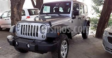 Jeep Wrangler 5p Unlimited Sport V6/3.6 Aut usado (2018) color Plata precio $449,800
