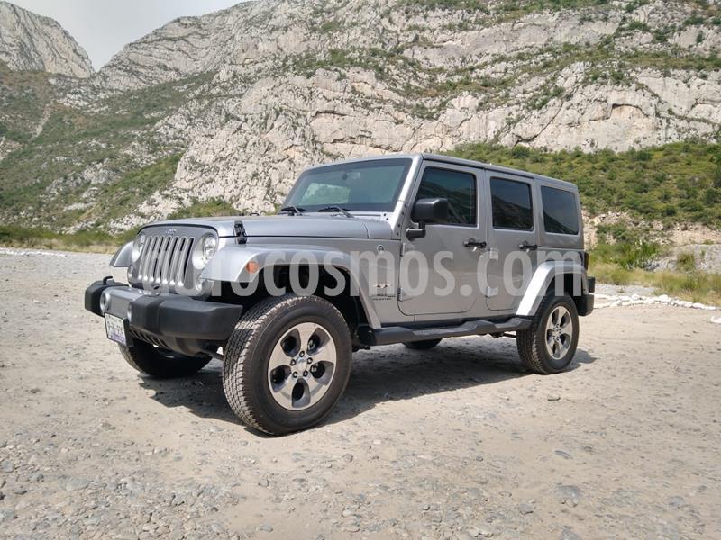 Jeep Wrangler Unlimited Sahara 4x4 3.6L Aut usado (2018) color Plata Dorado precio $1,599,000