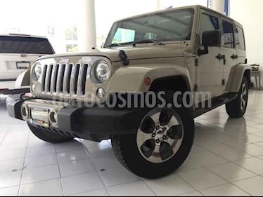 Foto venta Auto usado Jeep Wrangler Sahara 4x4 3.6L Aut (2018) color Beige precio $599,000