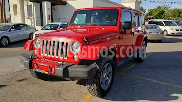 Foto venta Auto usado Jeep Wrangler Sahara 4x4 3.6L Aut (2018) color Rojo precio $599,000