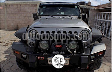 Jeep Wrangler Unlimited Rubicon 4x4 3.6L Aut usado (2016) color Gris precio $700,000