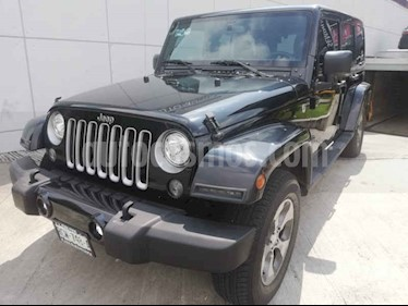 Foto venta Auto usado Jeep Wrangler Unlimited Sahara 4x4 3.6L Aut (2017) color Negro precio $619,000