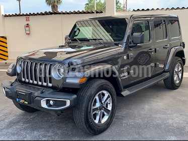 Foto Jeep Wrangler Unlimited Sahara 4x4 3.6L Aut usado (2019) color Gris precio $789,900