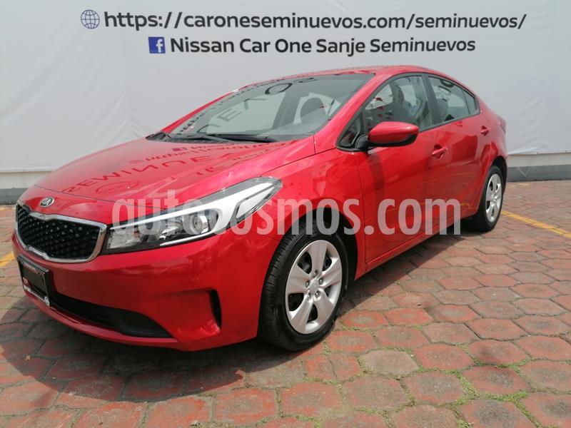 Kia Forte L Aut usado (2018) color Rojo precio $209,900