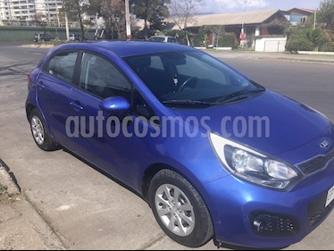 Kia Rio 5  EX 1.4L Ac usado (2014) color Azul Electrico precio $5.600.000