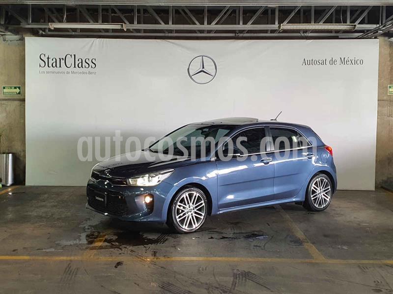 Kia Rio Hatchback EX Pack Aut usado (2018) color Azul precio $229,000