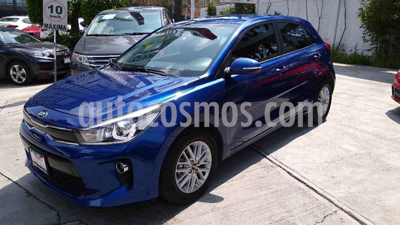 Kia Rio Hatchback EX Aut usado (2018) color Azul precio $228,000