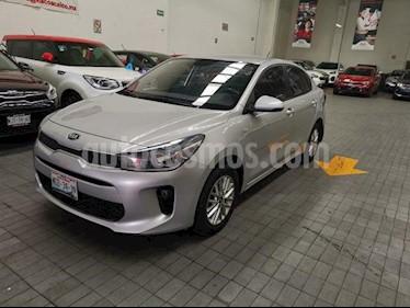 Kia Rio Sedan 5p LX L4/1.6 Aut usado (2018) color Gris precio $199,000