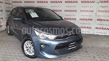 Foto venta Auto usado Kia Rio Sedan EX (2018) color Azul precio $239,000