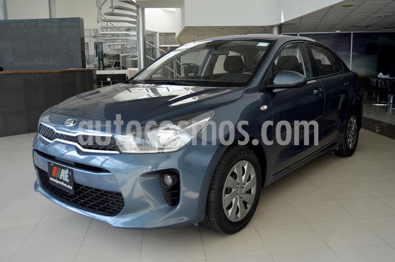 Kia Rio Sedan L Aut usado (2019) color Azul precio $199,900