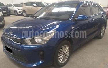 Kia Rio Sedan 4p LX L4/1.6 Aut usado (2018) color Azul precio $219,000