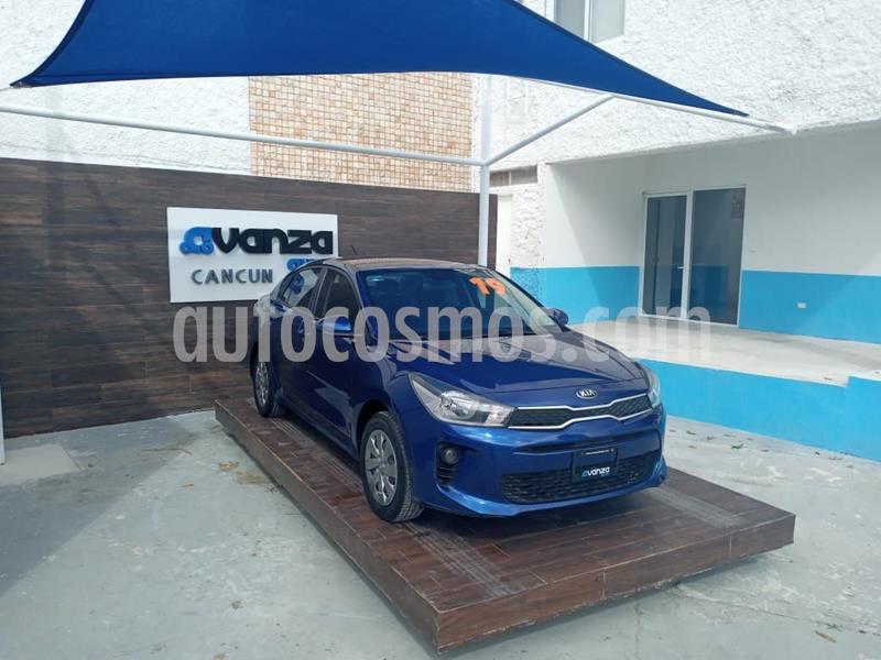 Kia Rio Sedan LX Aut usado (2019) color Azul precio $215,000