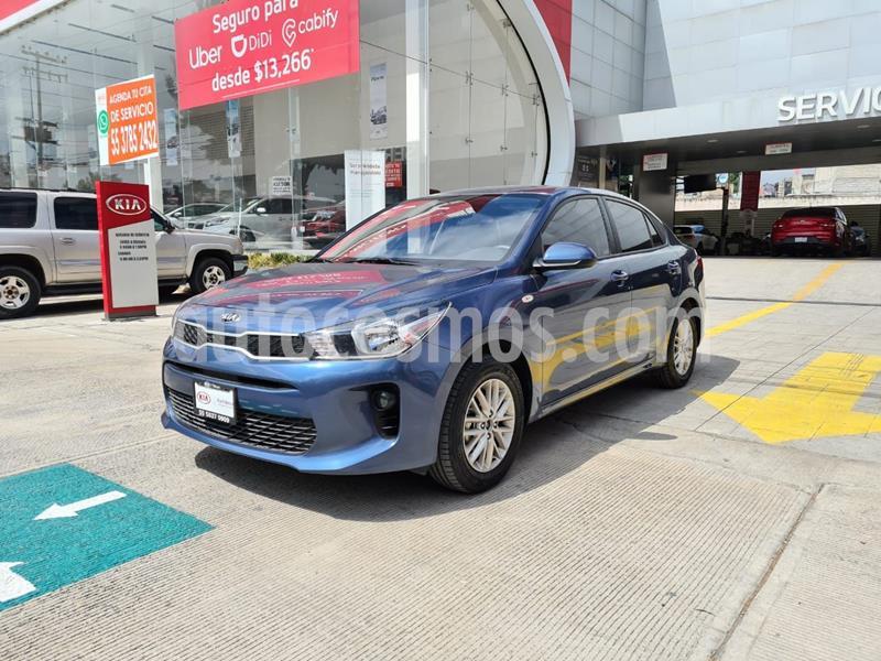 Kia Rio Sedan LX Aut usado (2020) color Azul precio $239,000