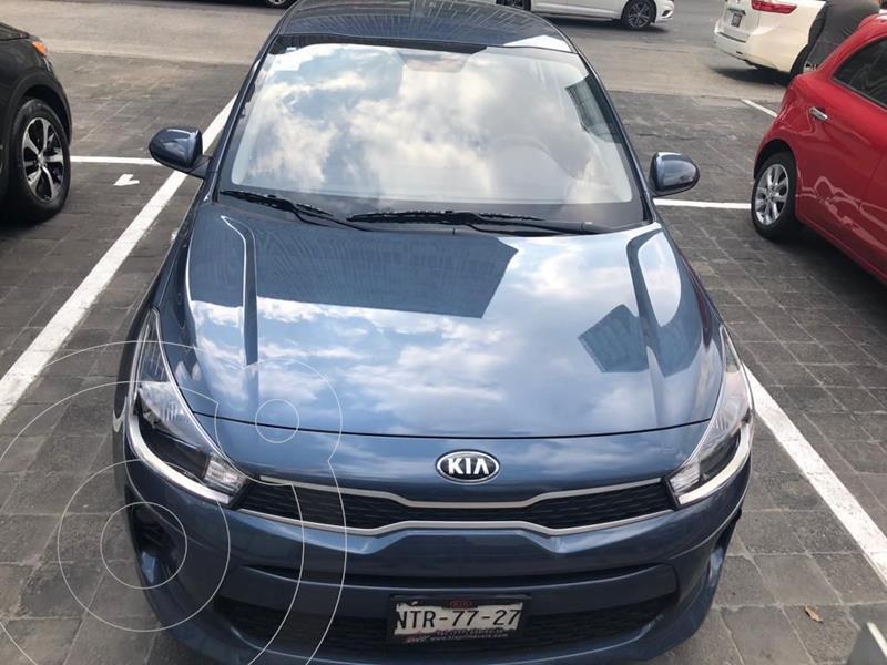 Kia Rio Sedan LX Aut usado (2020) color Azul precio $245,000