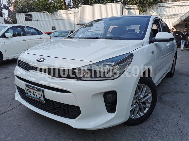 Kia Rio Sedan LX Aut usado (2018) color Blanco precio $195,000
