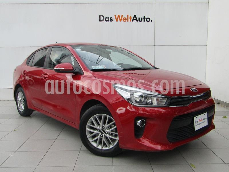 Kia Rio Sedan EX Aut usado (2018) color Rojo precio $204,000