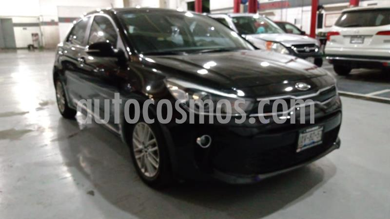 Kia Rio Sedan EX Pack Aut usado (2018) color Negro precio $215,000