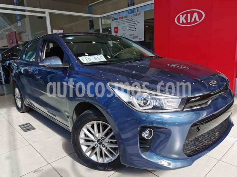 Kia Rio Sedan EX Aut usado (2018) color Azul precio $210,000