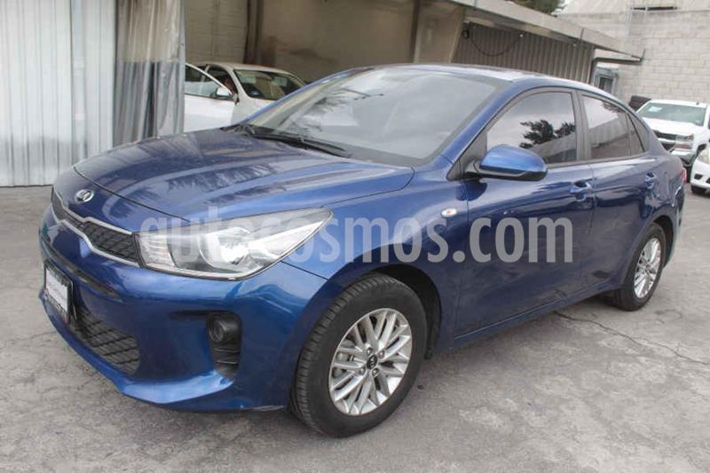 Kia Rio Sedan LX Aut usado (2018) color Azul precio $205,000