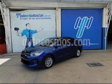 Kia Rio Sedan LX usado (2018) color Azul precio $80,000