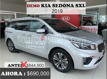 Kia Sedona 5  pts SXL 3.3L MPI, TA 6 Vel, A/C, Piel, VE, BA,  usado (2019) color Plata precio $690,000