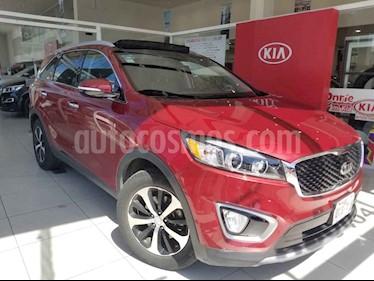 Kia Sorento 5 pts. EX Pack, V6, TA, A/AC, Piel, QCP, GPS, 7 pa usado (2017) color Rojo precio $360,000
