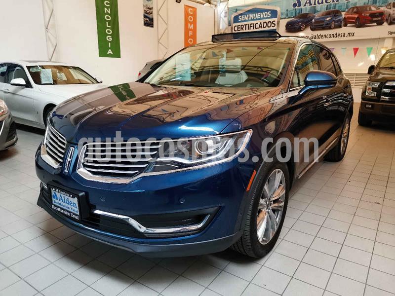 Lincoln MKX 3.5L 4x4  usado (2017) color Azul precio $415,000