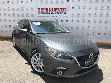 Mazda 3 Hatchback s  Aut usado (2015) color Gris Titanio precio $215,000
