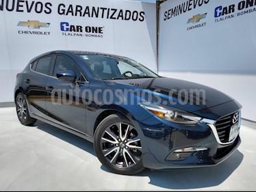 Mazda 3 Hatchback i Grand Touring Aut usado (2018) color Azul Marino precio $298,500
